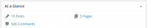 Bloggingthing Dashboard - Number of Comments