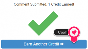 Earn another credit button