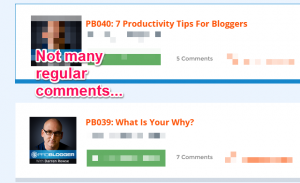 ProBlogger comments view