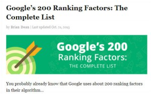 Brian Google 200 Ranking Factors