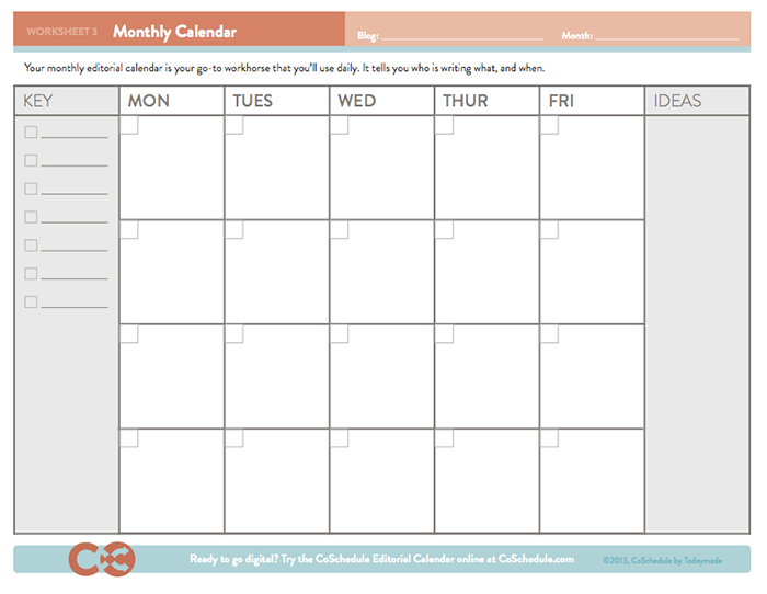 Editorial Calendar Templates - CoSchedule