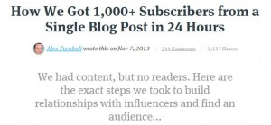 How We Got 1,000+ Subscribers from a Single Blog Post in 24 Hours - Groove Alex Turnbull