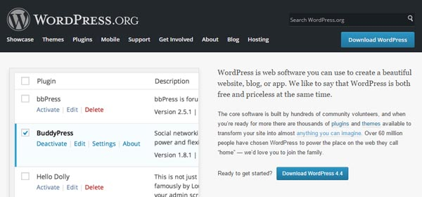 WordPress dot org - Website