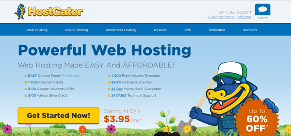 HostGator - Monthly Web Hosting