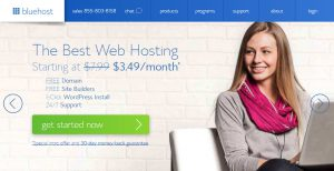 Install WordPress to BlueHost - BlueHost Homepage