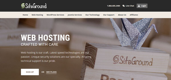 SiteGround - Monthly Web Hosting
