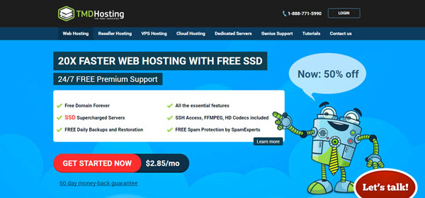 TMDHosting - Monthly Web Hosting