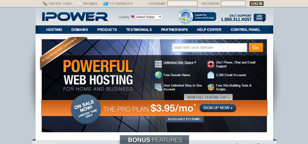 iPower - Monthly Web Hosting