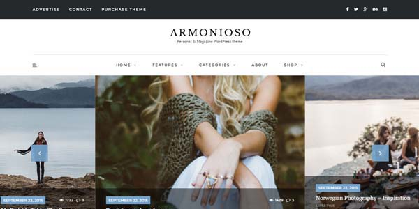 Armonioso - Premium WordPress Theme