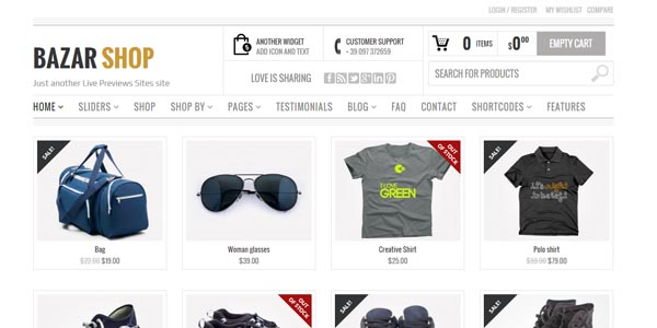 Bazar Shop - Premium WordPress Theme