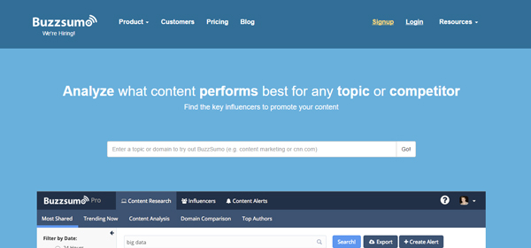 BuzzSumo - Website