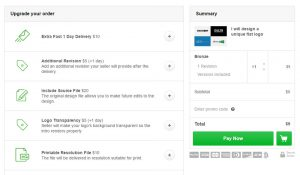 Fiverr - Pay Now Page