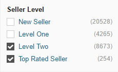 Fiverr - Sellers Level Filter