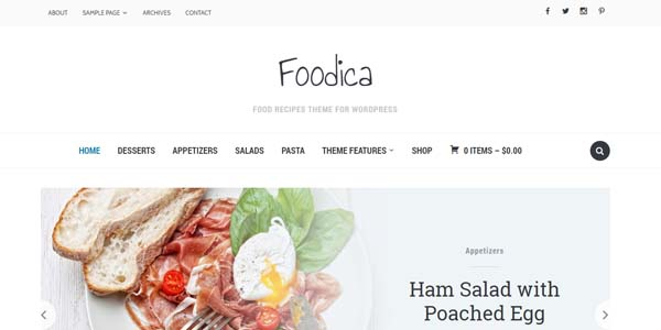 Foodica - Premium WordPress Theme