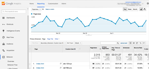 Google Analytics - Website