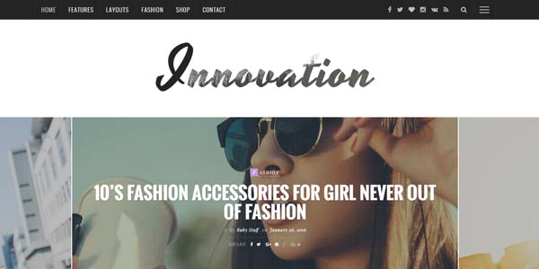 Innovation - Premium WordPress Theme