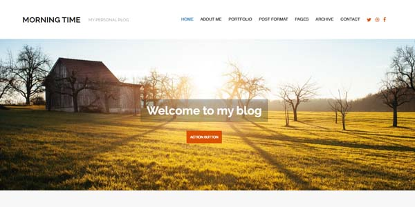 Morning Time - Premium WordPress Theme