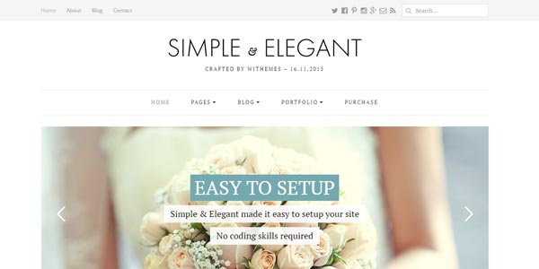 Simple and Elegant - Premium WordPress Theme