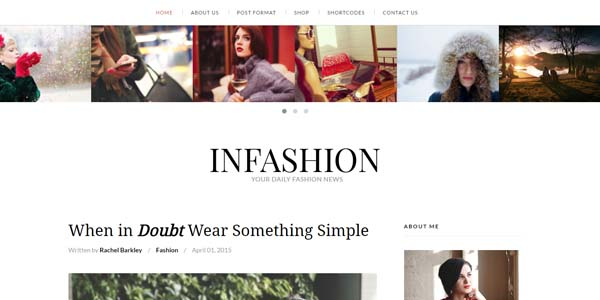 inFashion - Premium WordPress Theme