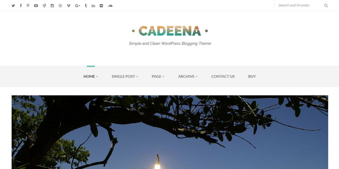 Cadeena - WordPress Blog Design