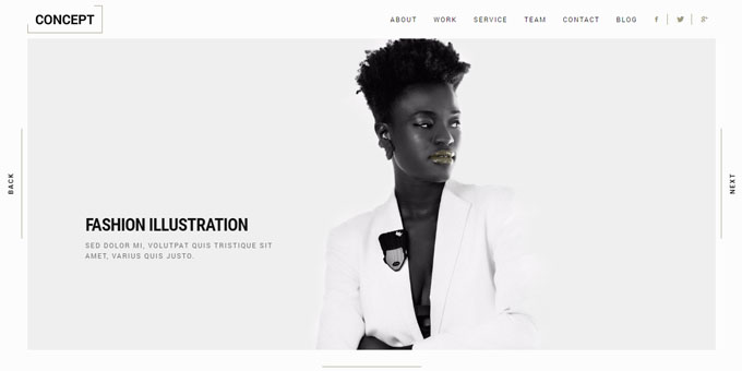 Concept - Premium Minimal WordPress Themes