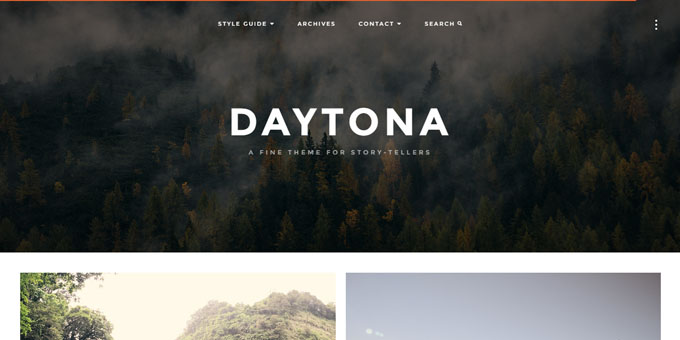 Daytona -  WordPress Blog Design