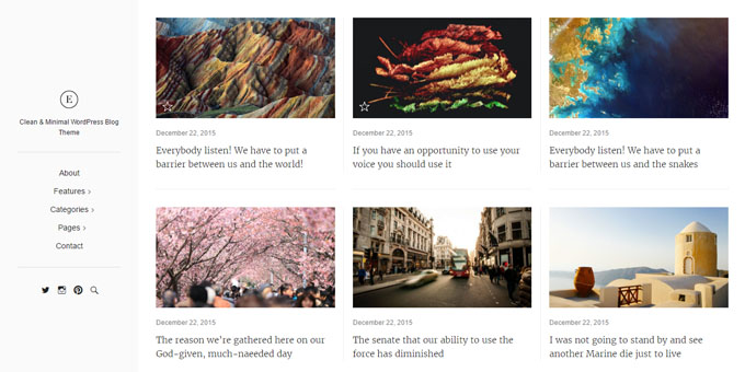 East - Premium Minimal WordPress Themes