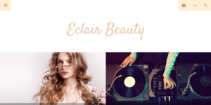 Eclair -  WordPress Blog Design