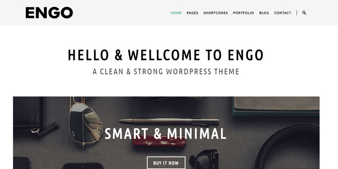 Engo - Premium Minimal WordPress Themes