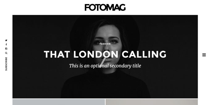 Fotomag -  WordPress Blog Design