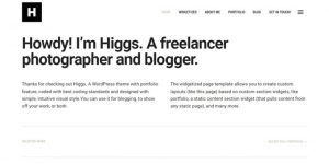 Higgs - Premium Minimal WordPress Themes
