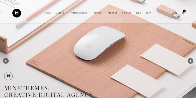 Minelight - Premium Minimal WordPress Themes