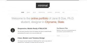 Minimal WordPress Portfolio - Premium Minimal WordPress Themes