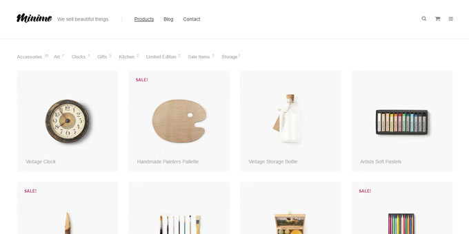 Minimo - Premium Minimal WordPress Themes