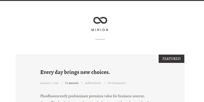 Minion -  WordPress Blog Design
