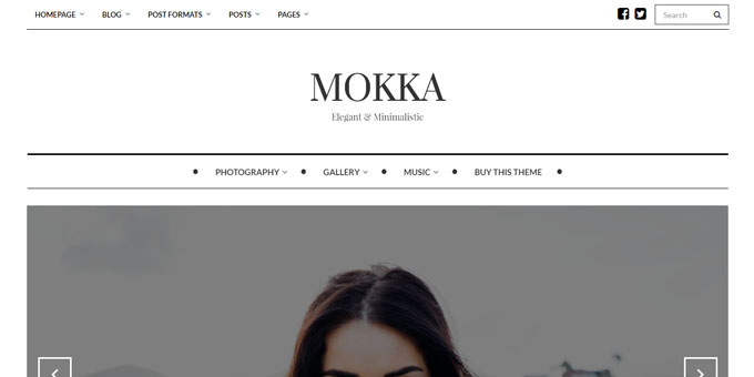 Mokka - Premium Minimal WordPress Themes