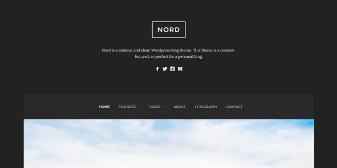 Nord -  WordPress Blog Design
