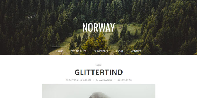 Norway - WordPress Blog Design