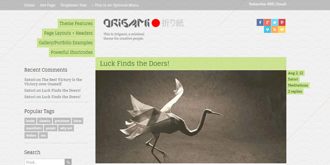 Origami - WordPress Blog Design