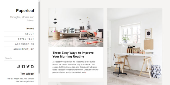 Paperleaf - Premium Minimal WordPress Themes
