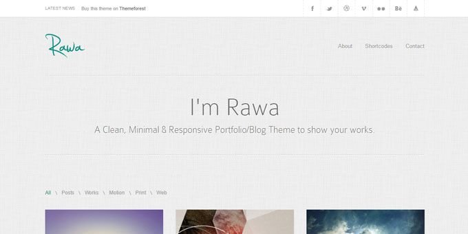 Rawa - Premium Minimal WordPress Themes