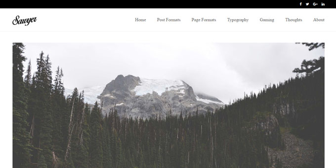 Sawyer -  WordPress Blog Design