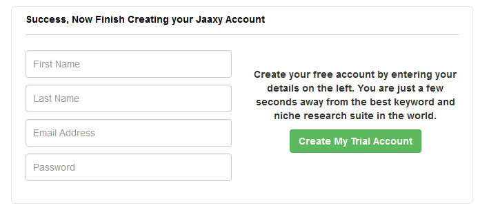 Sign Up - Jaaxy