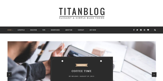 Titan - WordPress Blog Design