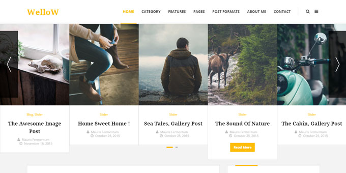 Wellow -  WordPress Blog Design