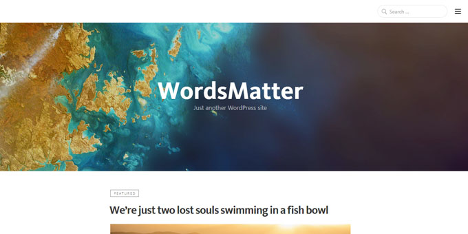 WordsMatter -  WordPress Blog Design