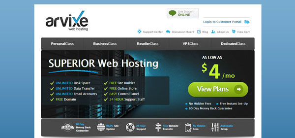 Arvixe - Monthly Web Hosting
