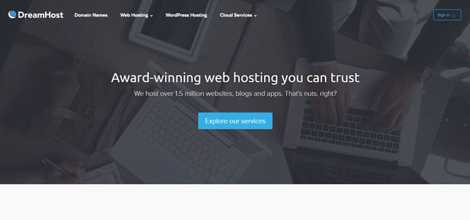 DreamHost - Top 10 Blog Hosting Sites