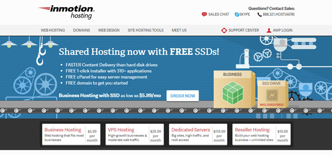 InMotion Hosting - Top 10 Blog Hosting Sites