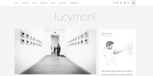 Lucymoni - Cheap WordPress Magazine Themes
